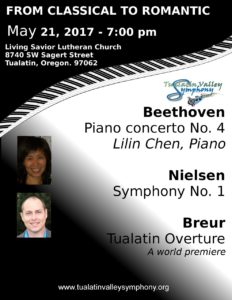 May 21, 2017: Beethoven, Nielsen, Breur