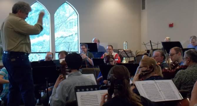 symphony in rehearsal
